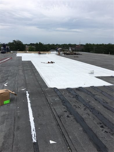 Pascagoula recreation center roof with tarp